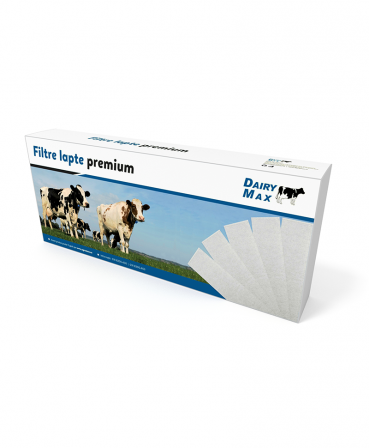 Filtre lapte Dairy MAX, compatibile BouMatic, Dimensiuni filtre lapte - 76 x 600 mm, 80 g/mp, cutie 200 buc.