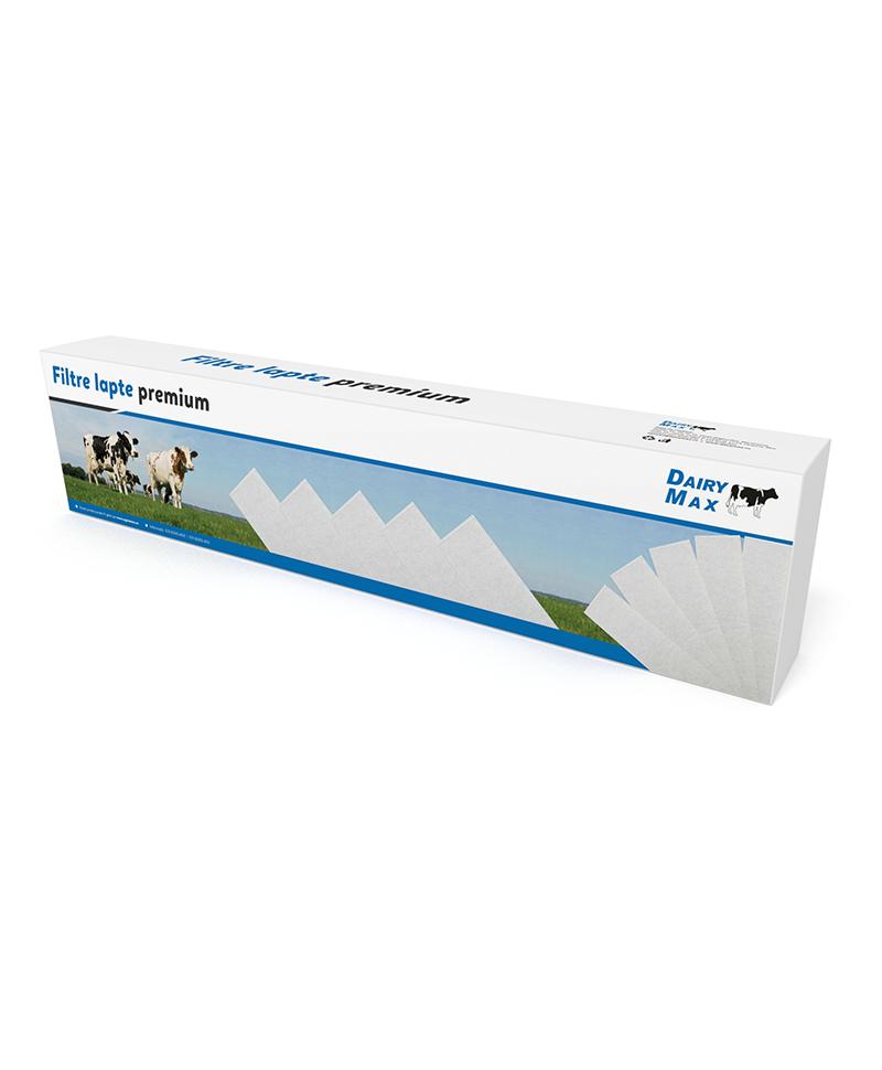 Filtre lapte Dairy MAX compatibile Impulsa, 75 x 815 mm, 75 g/mp, cutie 200 buc.