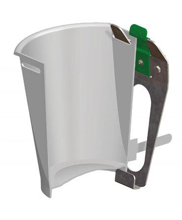 Suport metalic cu blocaj, pentru galeata alaptare vitei cu tetina, CalfOTel, sectiune