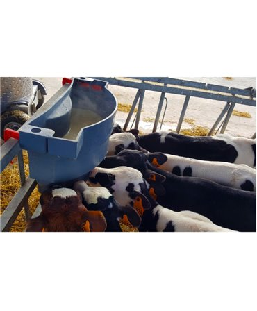 Hranitoare comuna vitei cu 6 tetine, Milk Bar, 36l, fixat pe grilajul metalic