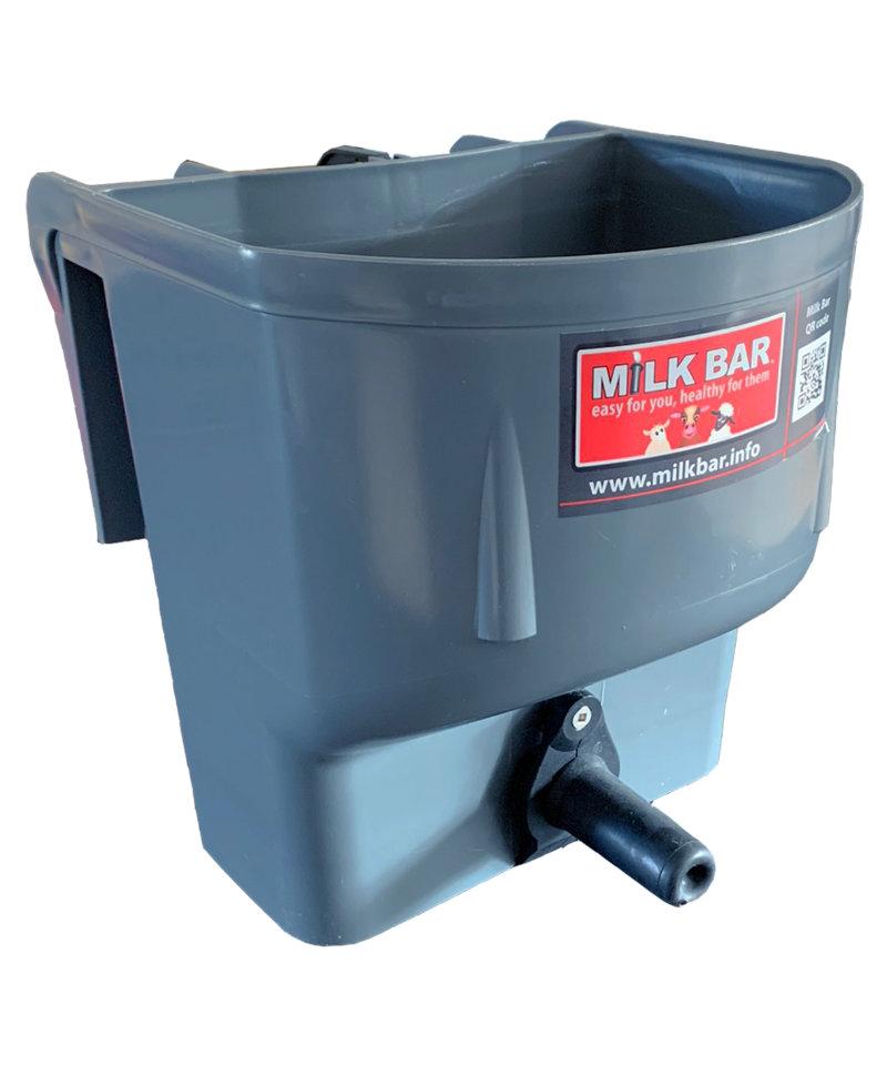 Galeata cu tetina pentru alaptarea viteilor, Milk Bar, 4l cu sistem fixare tetina,fata