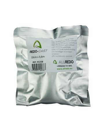 Rola bandaj ghipsat pentru ingrijirea si tratamentul ongloanelor, Allredo REDO-CAST in ambalaj