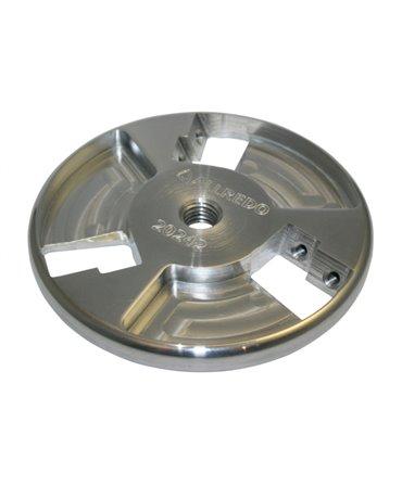 Disc trimaj ongloane 120 mm din aluminiu, inchis, cu 6 lame reversibile din titan, Allredo SA10, din unghi
