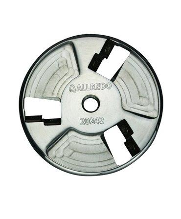 Disc trimaj ongloane din aluminiu, Allredo SA10, cu 6 lame reversibile din titan