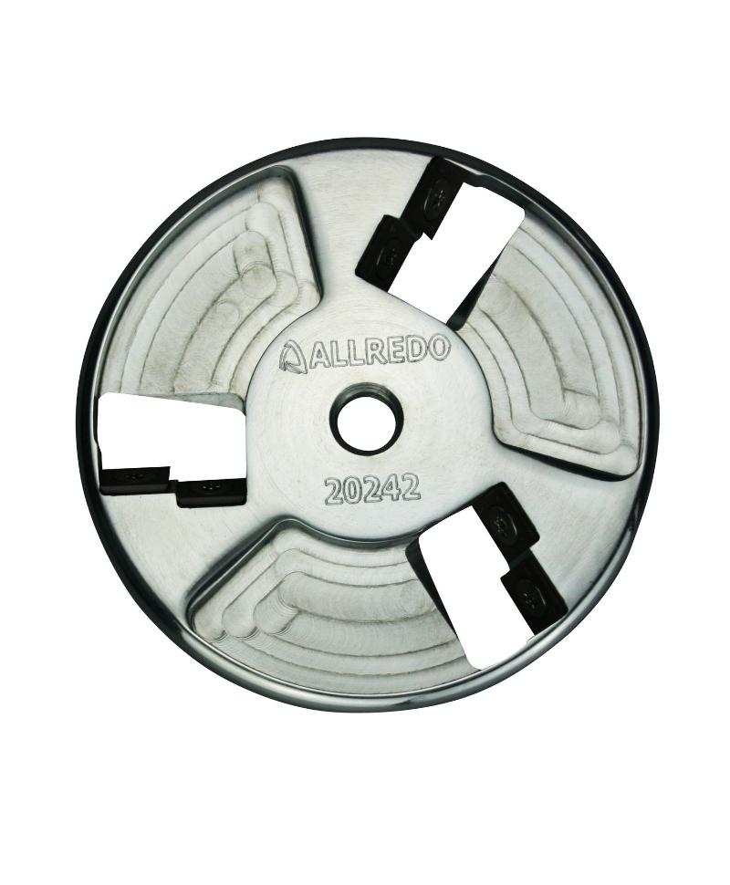 Disc trimaj ongloane 120 mm din aluminiu, inchis, cu 6 lame reversibile din titan, Allredo SA10
