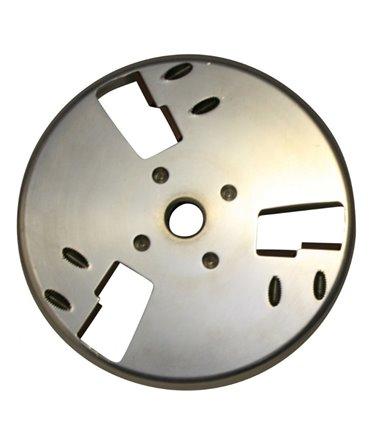 Disc trimaj ongloane 120 mm din aluminiu, inchis, cu 6 lame reversibile din titan, Allredo SA10, spate