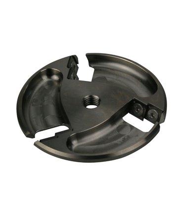 Disc trimaj ongloane 115 mm din titan, deschis, cu 6 lame reversibile din titan, Allredo ST20