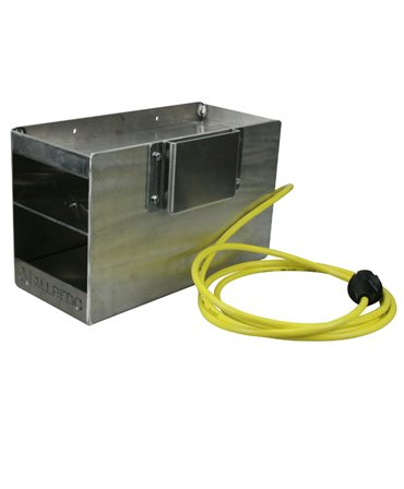 Ansamblu complet cutie metalica cu rezistenta electrica pentru incalzirea adezivilor pentru ongloane, Allredo Heat BOX