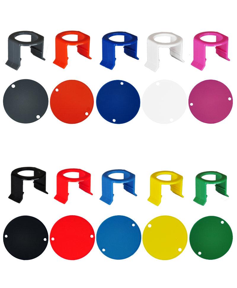 Set 10 cleme tetine si etichete plastic pentru sistemul de alaptare vitei Milk Bar Vitality, 10 culori
