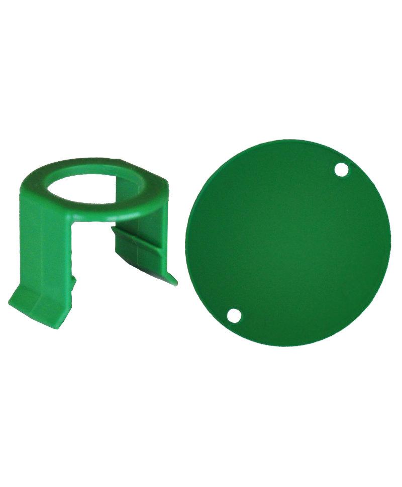 Set 5 cleme tetine si etichete plastic pentru sistemul de alaptare vitei Milk Bar Vitality, culoare verde