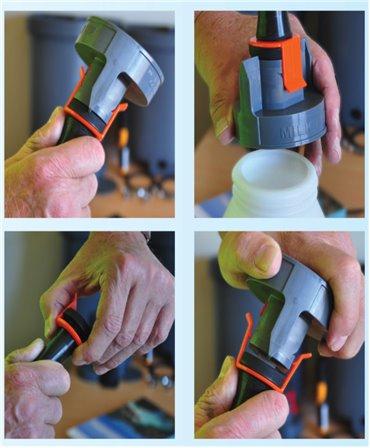 Kit complet fixare tetina pentru sistemul de alaptare vitei Milk Bar Vitality, mod fixare