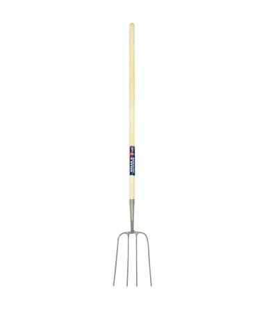 Furca pentru gunoi, 4 coarne din otel, coada de lemn, 1220 mm, Spear and Jackson