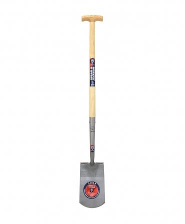 Cazma cu lama din otel, margini indoite, 276 x 163 mm, coada de lemn, maner T lemn, Spear & Jackson Neverbend