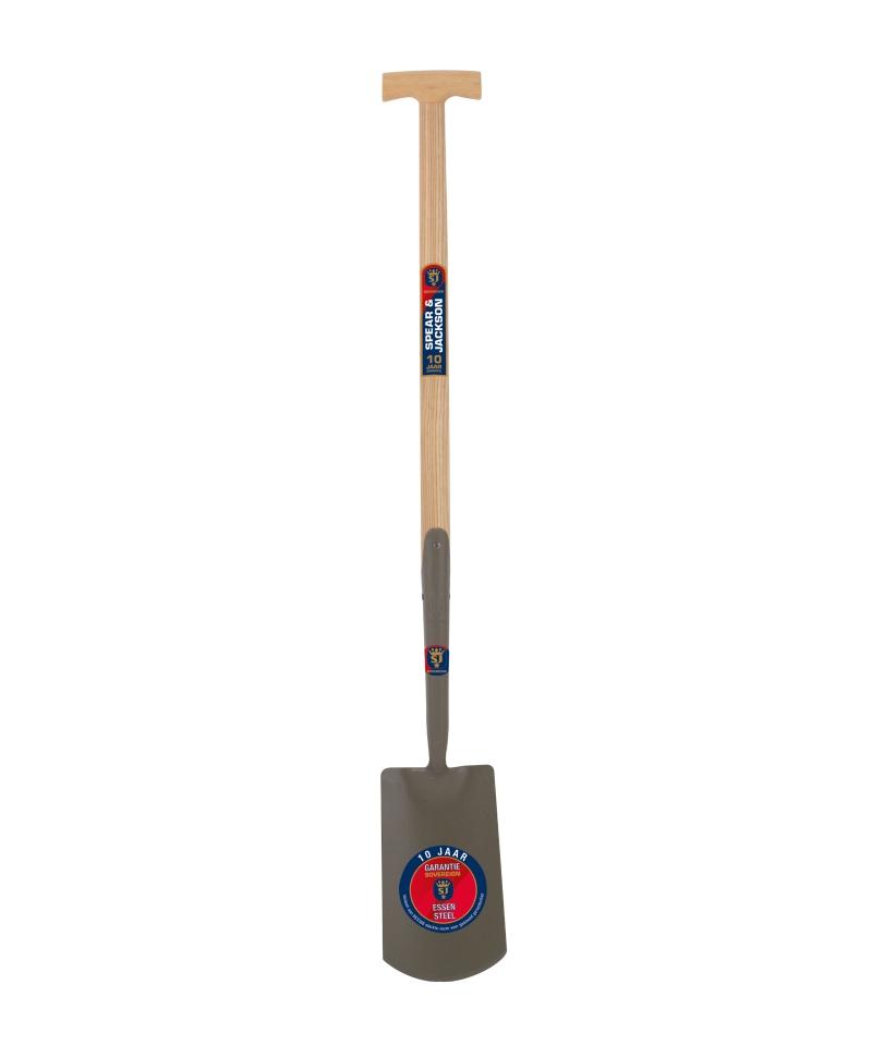 Cazma cu lama din otel, 276 x 163 mm, coada de lemn, soclu alungit, maner T lemn, Spear & Jackson Sovereign