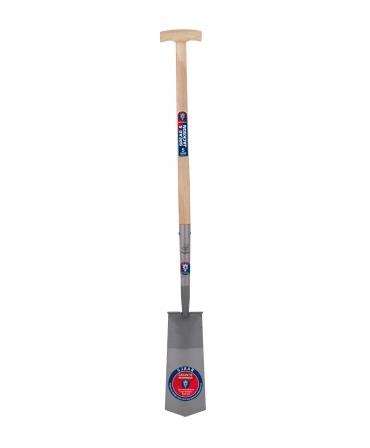 Cazma cu lama din otel, margini indoite, 327 x 127 mm, coada de lemn, maner T lemn, Spear & Jackson Neverbend
