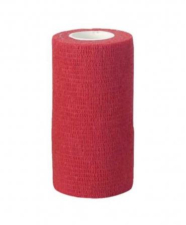 Rola bandaj adeziv elastic pentru ingrijirea si tratamentul ongloanelor, CowCare Tape&Care, 10cm x 4,5m, rosie