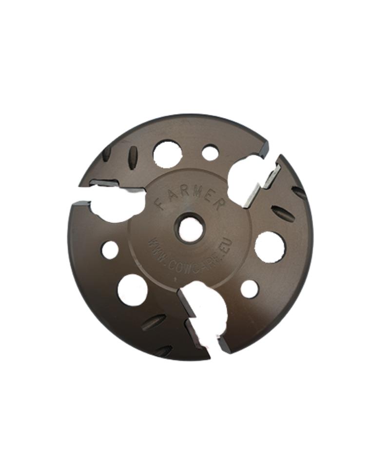 Disc trimaj ongloane CowCare Farmer, cu 6 lame reversibile, aluminiu