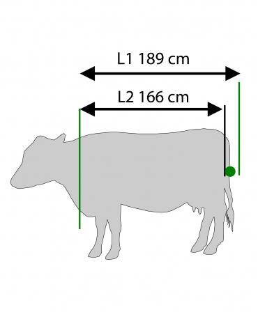 Stand trimaj ongloane vaci KVK 650-SP3, complet automatizat, dimensiuni vaca