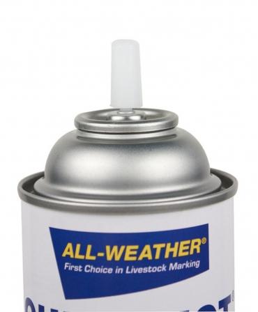 Spray vopsea pe baza de apa, cu uscare rapida, pentru marcarea animalelor, All-Weather Quickshot, detaliu