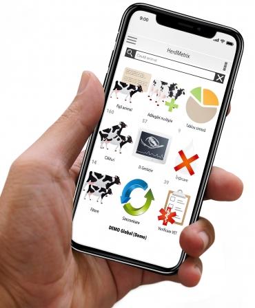 Sistem de management ferme vaci lapte BouMatic HerdMetrix, varianta pe mobil
