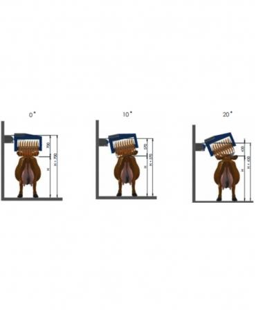 Perie rotativa automata pentru vaci, BouMatic HandyBrush, schema dimensiuni