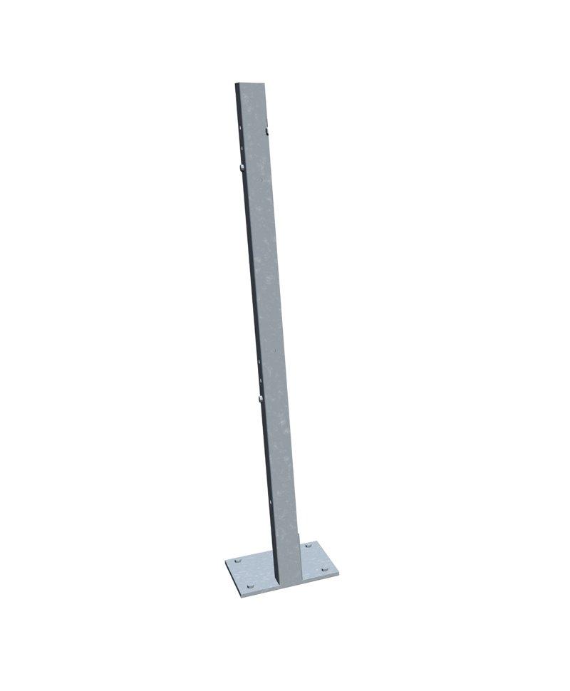 Stalp galvanizat cu prindere pe pardoseala, cu picior, 1,3m inaltime