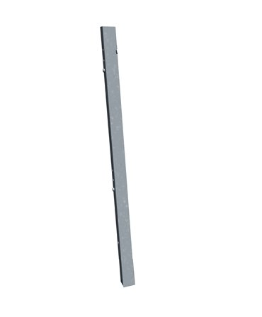 Stalp galvanizat cu prindere in pardoseala, 1,5m inaltime