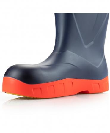 Cizme protectie Bekina StepliteX StormGrip, O4, bleumarin/portocaliu, detaliu lateral