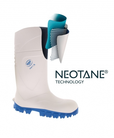 Cizme protectie Bekina StepliteX SolidGrip, S4, alb/albastru, neotane