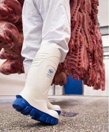 Cizme protectie Bekina StepliteX ThermoProtec, S4, alb/albastru, in fabrica