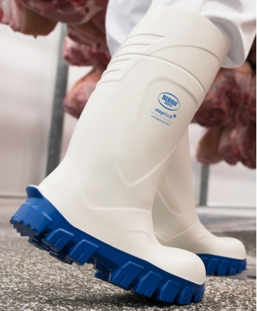 Cizme protectie Bekina StepliteX ThermoProtec, S4, alb/albastru, in fabrica, profil
