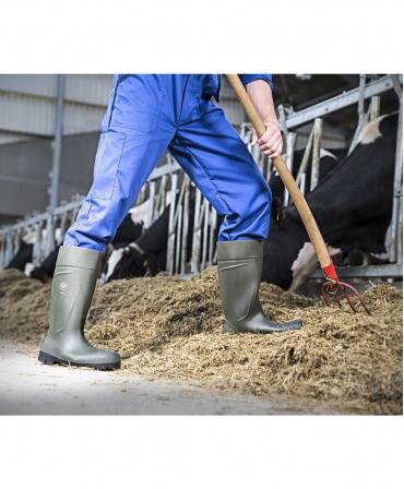 Cizme protectie Bekina Steplite EasyGrip, S5, verde/negru, in ferma de vaci
