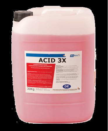 Detergent concentrat acid lichid Acid 3X, pentru instalatii de muls si tancuri de racire, Bidon 30 l