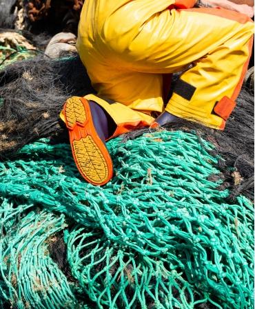 Cizme protectie Bekina StepliteX StormGrip, O4, bleumarin/portocaliu, detaliu pescuit