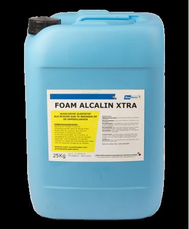 Detergent alcalin lichid Foam Alcalin Xtra fara clor pentru curatarea suprafetelor externe, Bidon 25 kg