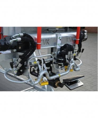 Sistem hidraulic cu placa de sustinere a onglanelor pentru picioarele din spate
