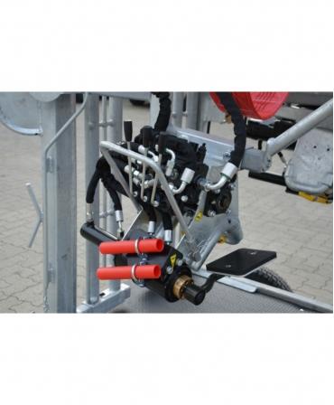 Sistem hidraulic cu placa de sustinere a onglanelor pentru picioarele din fata