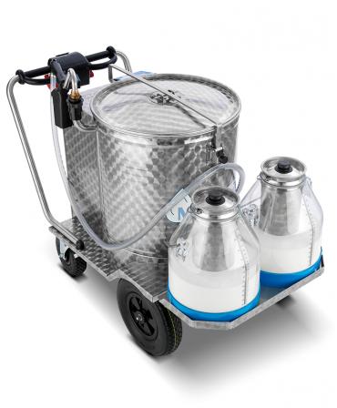 Milk Taxi pentru hranirea inteligenta a viteilor cu cadru rabatabil si galeti