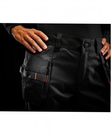 Pantaloni de lucru dama Helly Hansen Luna Construction, negri, detalii talie