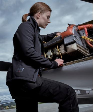 Pantaloni de lucru dama Helly Hansen Luna Construction, negri, lucru in domeniul aviatic