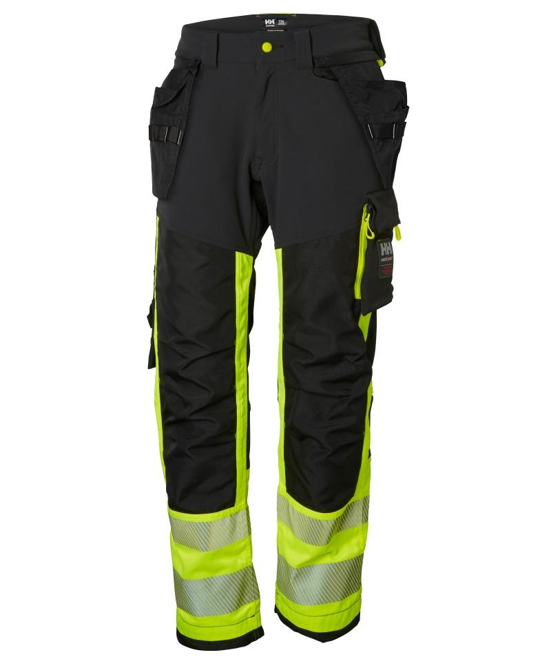 Pantaloni de lucru Helly Hansen ICU Construction, reflectorizanti, HVC1, galben/negru, fata