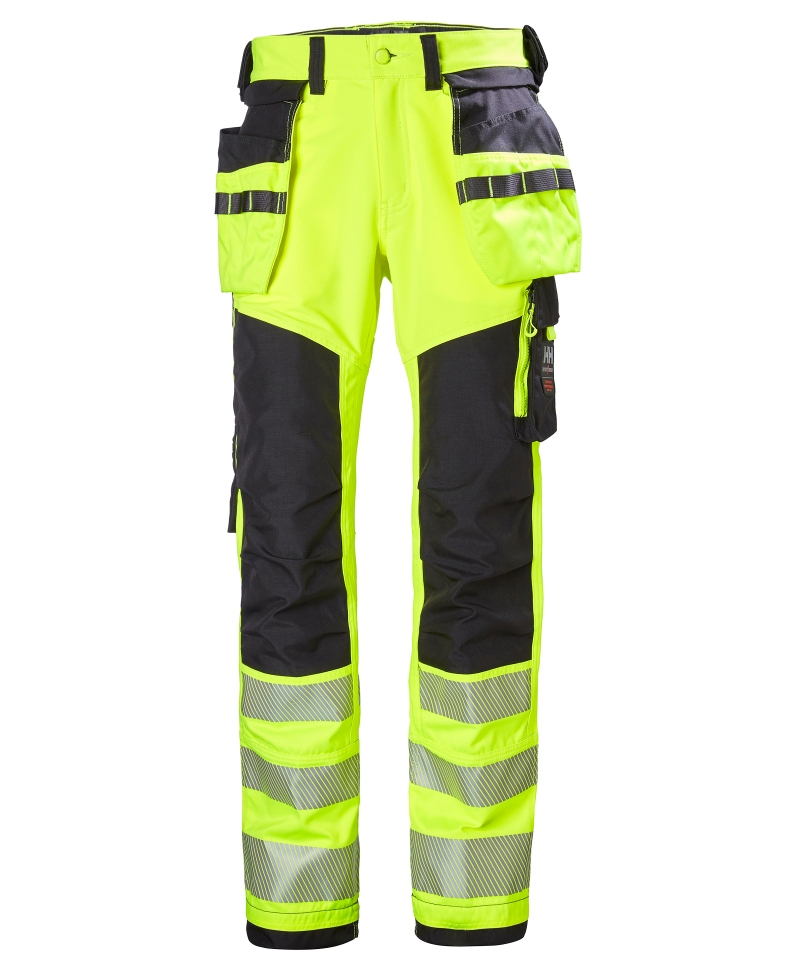 Pantaloni de lucru Helly Hansen ICU Construction, reflectorizanti, HVC2, galben/negru, fata