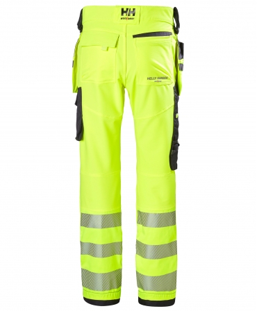 Pantaloni de lucru Helly Hansen ICU Construction, reflectorizanti, HVC2, galben/negru, spate