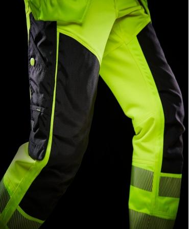 Pantaloni de lucru Helly Hansen ICU Construction, reflectorizanti, HVC2, galben/negru, din profil
