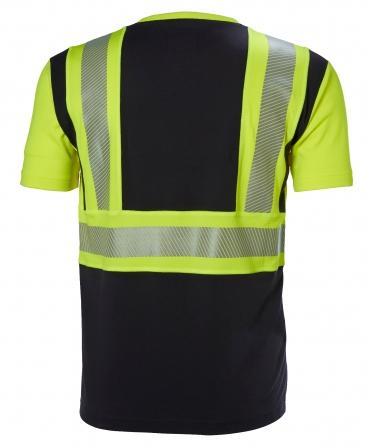 Tricou cu maneca scurta Helly Hansen ICU, reflectorizant, HVC1, galben/negru, spate