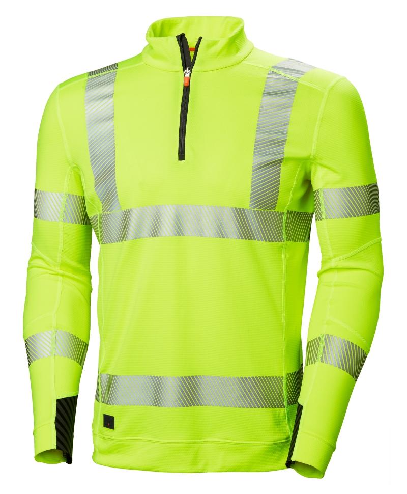 Bluza Helly Hansen Lifa Active Half Zip, reflectorizanta, HVC2, 3, galbena, fata