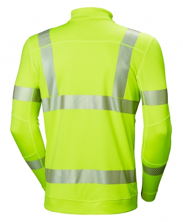 Bluza Helly Hansen Lifa Active Half Zip, reflectorizanta, HVC2, 3, galbena, spate