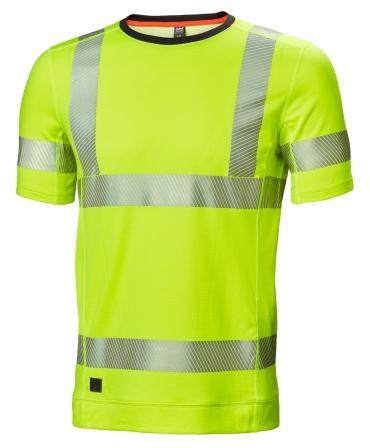 Tricou cu maneca scurta Helly Hansen Lifa Active, reflectorizant, HVC2, galben, fata