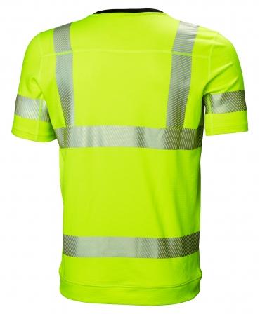Tricou cu maneca scurta Helly Hansen Lifa Active, reflectorizant, HVC2, galben, spate