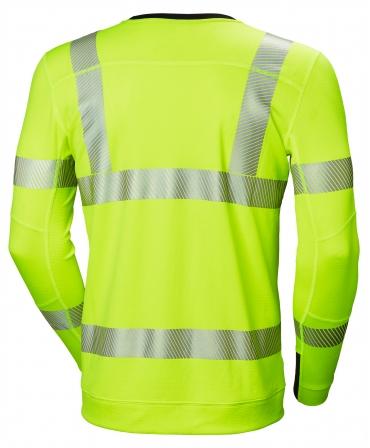 Bluza Helly Hansen Lifa Active Crewneck, reflectorizanta, HVC2, 3, galbena, spate